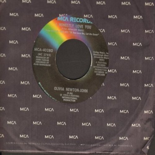 Newton-John, Olivia - I Honestly Love You/Let Me Be There  - NM9/ - 45 rpm Records