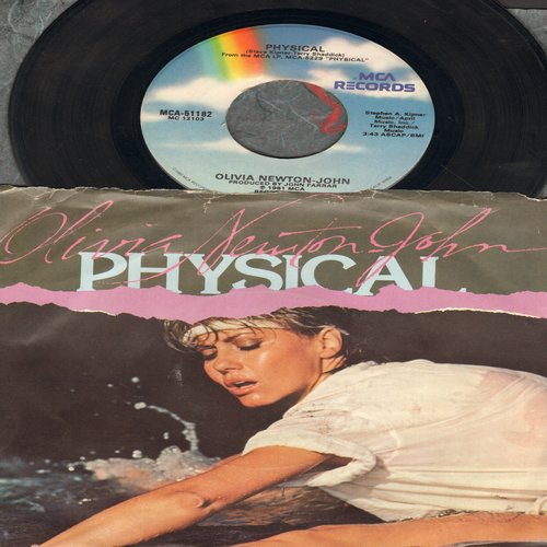 Newton-John, Olivia - Physical/The Promise (with picture sleeve) - EX8/VG7 - 45 rpm Records