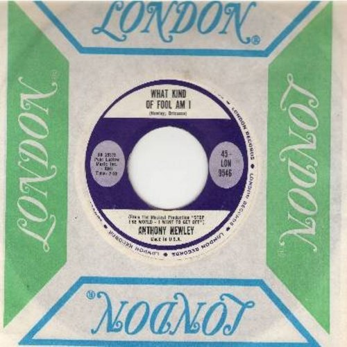 Newley, Anthony - What Kind Of Fool Am I/Gonna Build A Mountain (with vintage London company sleeve) - NM9/ - 45 rpm Records