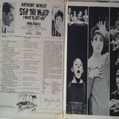 Newley, Anthony, Anna Quayle - Stop The World - I Want To Get Off: Original Broadway Cast (Vinyl MONO LP record, gate-fold cover) - NM9/EX8 - LP Records