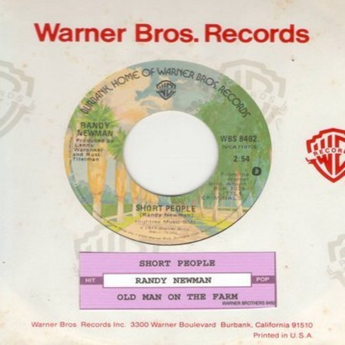 Newman, Randy - Short People/Old Man On The Farm (novelty record that inspired a short-lived class-action law suit by a group of insulted height-challenged Americans) (with juke box label) - NM9/ - 45 rpm Records