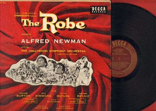 Newman, Alfred & Hollywood Symphony Orchestra - The Robe - Music from the  20th Century Fox Cinemascope Sound Track - Score composed by Alfred Newman,