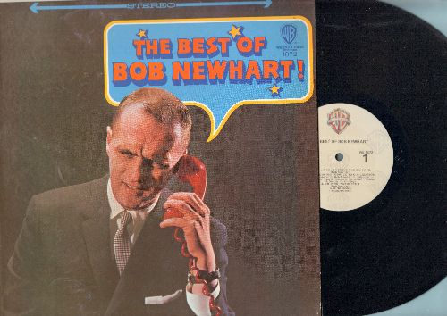 Newhart, Bob - The Best Of Bob Newhart! - Hilarious Comedy Routines by the Kind of the Dead Pan Humor (Vinyl STEREO LP record, 1980s pressing) - NM9/NM9 - LP Records