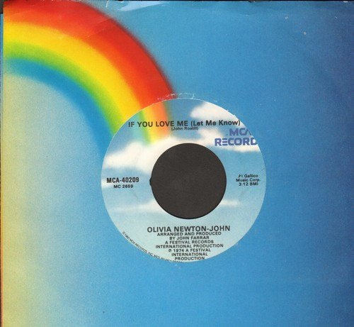 Newton-John, Olivia - If You Love Me (Let Me Know)/Brotherly Love - M10/ - 45 rpm Records