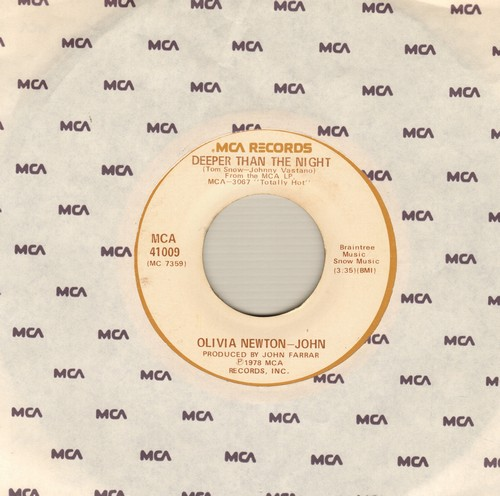 Newton-John, Olivia - Deeper Than The Night/Please Don't Keep Me Waiting - EX8/ - 45 rpm Records