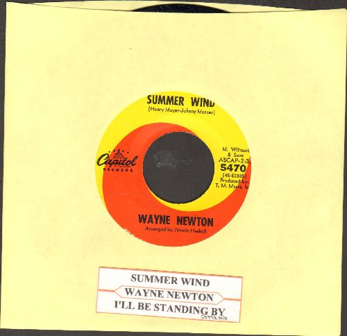 Newton, Wayne - Summer Wind/I'll Be Standing By (with juke box label) - NM9/ - 45 rpm Records