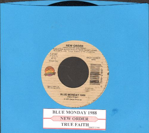 New Order - Blue Monday 1988/True Faith (with juke box label) - NM9/ - 45 rpm Records