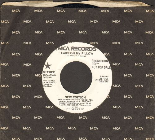 New Edition - Tears On My Pillow (double-A-sided DJ advance pressing with MCA company sleeve) - NM9/ - 45 rpm Records