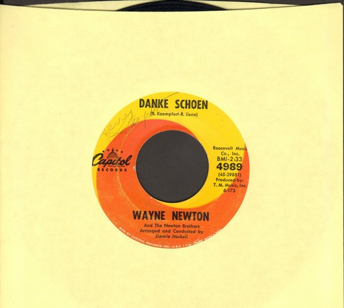 Newton, Wayne - Danke Schoen (Wayne Newton's Vegas SIGNATURE SONG!)/Better Now Than Later (minor wol) - EX8/ - 45 rpm Records