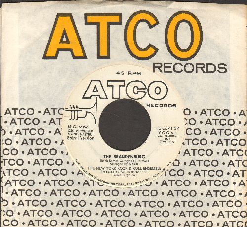 New York Rock & Roll Ensamble - The Brandenburg (double-A-sided DJ advance pressing with Atco company sleeve) - EX8/ - 45 rpm Records