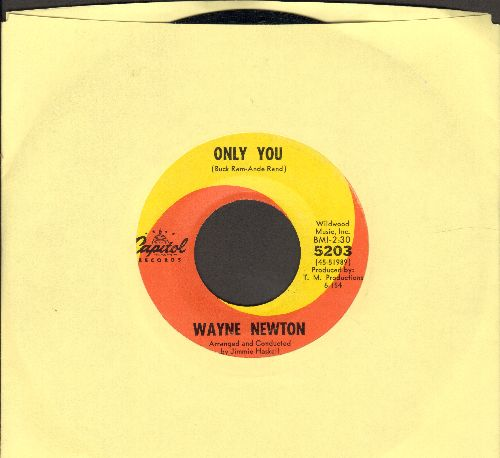 Newton, Wayne - Only You/Too Late To Meet (Once Upon A Time) - EX8/ - 45 rpm Records