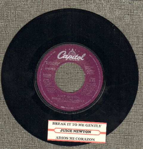 Newton, Juice - Break It To Me Gently/Adios Mi Corazon (with juke box label) - EX8/ - 45 rpm Records