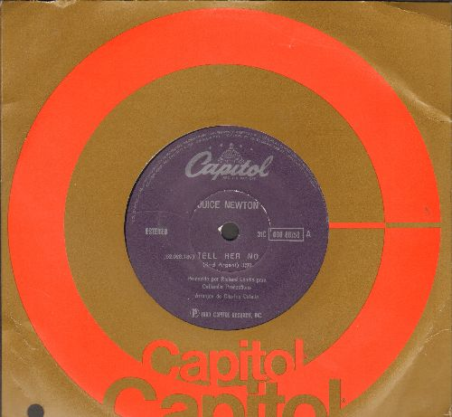 Newton, Juice - Tell Her No/Stranger At My Door (Brazilian Pressing, 7 inch 33rpm record with small spindle hole) - NM9/ - 45 rpm Records