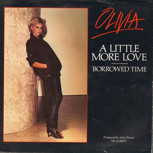Newton-John, Olivia - A Little More Love/Borrowed Time (with picture sleeve) - NM9/EX8 - 45 rpm Records
