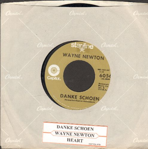 Newton, Wayne - Danke Schoen (Wayne Newton's Vegas SIGNATURE SONG!)/Heart! (double-hit re-issue with Capitol company sleeve and juke box label) - EX8/ - 45 rpm Records