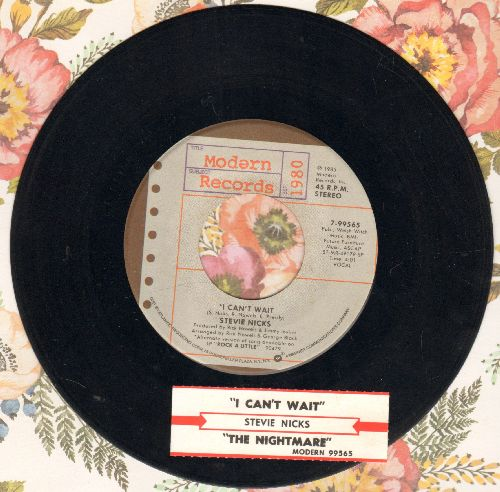 Nicks, Stevie - I Can't Wait/The Nightmare (with juke box label) - NM9/ - 45 rpm Records