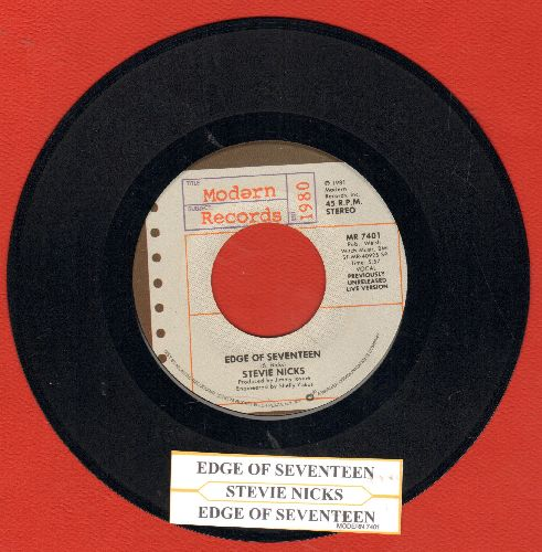 Nicks, Stevie - Edge Of Seventeen (4:10)/Edge Of Seventeen (5:57 previously unreales LIVE version) (with juke box label) - NM9/ - 45 rpm Records