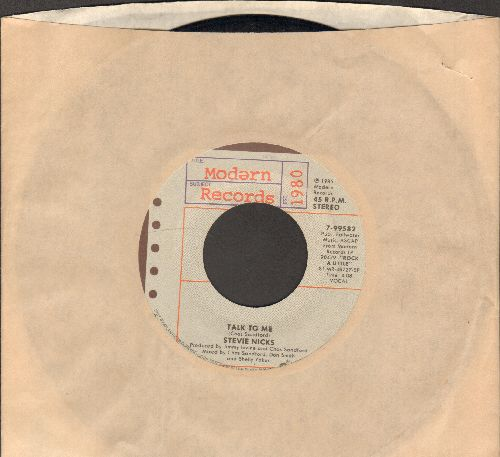 Nicks, Stevie - Talk To Me/One More Big Time Rock And Roll Star (with company sleeve) - EX8/ - 45 rpm Records