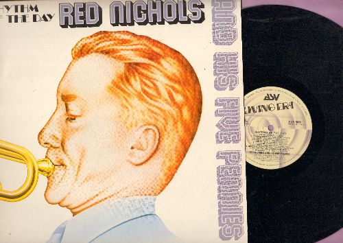 Nichols, Red & His Five Pennies - Rhythm Of The Day: Mean Dog Blues, Harlem Twist, Cornfed, Riverboat Shuffle, Hurricane (vinyl LP record, British re-issue of vintage Jazz recordings) - NM9/NM9 - LP Records