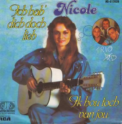 Nicole - Ich hab' dich doch lieb/Ik hou toch van jou (German Pressing with picture sleeve) - NM9/EX8 - 45 rpm Records