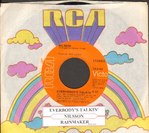 Nilsson - Everybody's Talkin' (OSCAR Winning Best Song from film -Midnight Cowboy-)/Rainmaker (with juke box label and RCA company sleeve) - EX8/ - 45 rpm Records