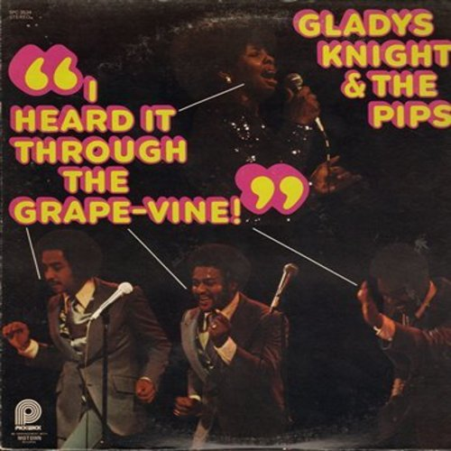Knight, Gladys & The Pips - I Heard It Through The Grapevine: Aint No Sun Since You've Been Gone, Everybody Needs Love (Vinyl STEREO LP record, re-issue) - M10/EX8 - LP Records