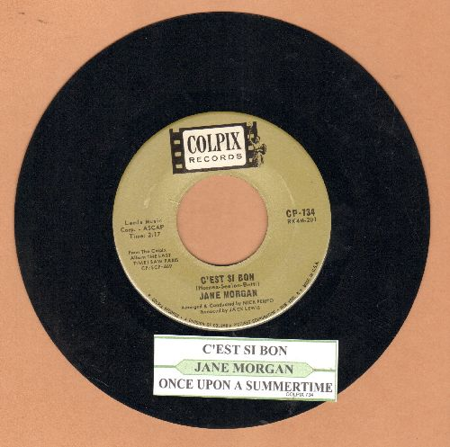 Morgan, Jane - C'est Si Bon  (It's So Good)/Once Upon A Summertime (with juke box label) - EX8/ - 45 rpm Records