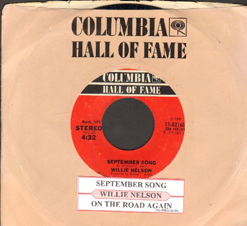 Nelson, Willie - On The Road Again/September Song (double-hit re-issue) - NM9/ - 45 rpm Records