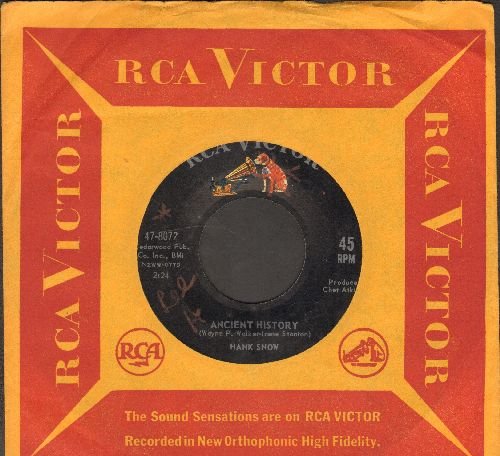 Snow, Hank - I've Been Everywhere/Ancient History (with vintage RCA company sleeve) - EX8/ - 45 rpm Records