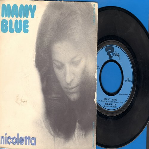 Nicoletta - Mamy Blue/Avec Les Zoo (French Pressing with picture sleeve, sung in French) - NM9/VG7 - 45 rpm Records