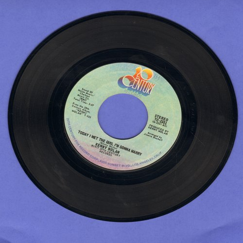 Nolan, Kenny - Today I Met The Girl I'm Gonna Marry/Love's Grown Deep - NM9/ - 45 rpm Records