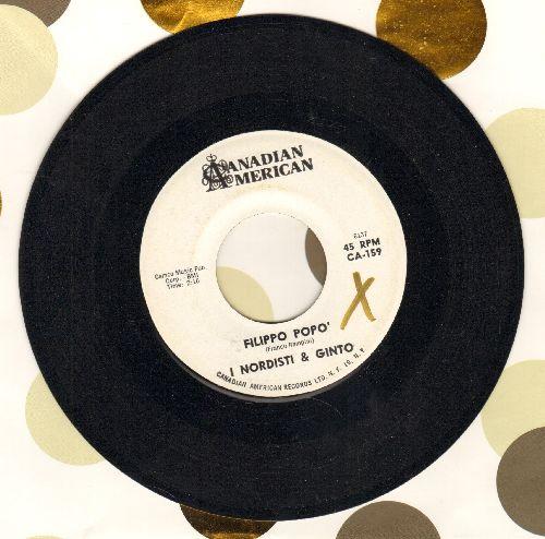 I Nordisti & Ginto - Flippo Popo'/Guitar Tango (DJ advance copy, US Pressig, sung in Italian) - NM9/ - 45 rpm Records