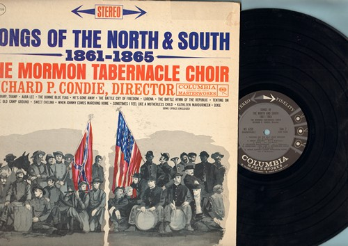 Mormon Tabernacle Choir - Songs Of The Noth & South 1861-1865: Battle Hymn Of The Republic, Dixie, When Johnny Comes Marching Home, Lorena (Vinyl STEREO LP record) - EX8/VG7 - LP Records