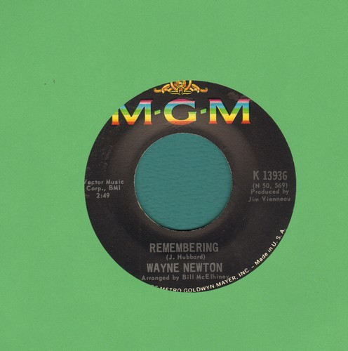 Newton, Wayne - Remembering/Angelica - EX8/ - 45 rpm Records
