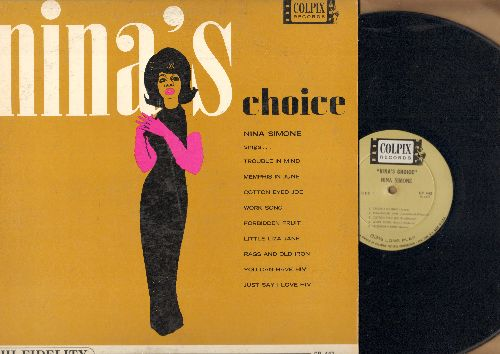Simone, Nina - Nina's Choice: Trouble In Mind, Cotton Eyed Joe, Forbidden Fruit, You Can Have Him (vinyl MONO LP record) - EX8/VG7 - LP Records