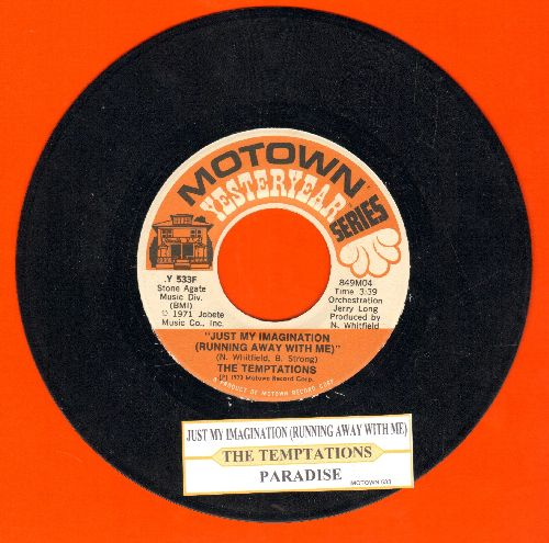 Temptations - Just My Imagination/ (re-issue with juke box label) - NM9/ - 45 rpm Records