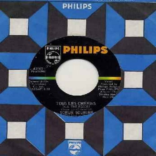 Singing Nun - Tous Les Chemins/Frere Tout L'Monde (OBSCURE follow-up to the World Hit -Dominique- sung in French, with vintage Philips company sleeve) (bb) - NM9/ - 45 rpm Records