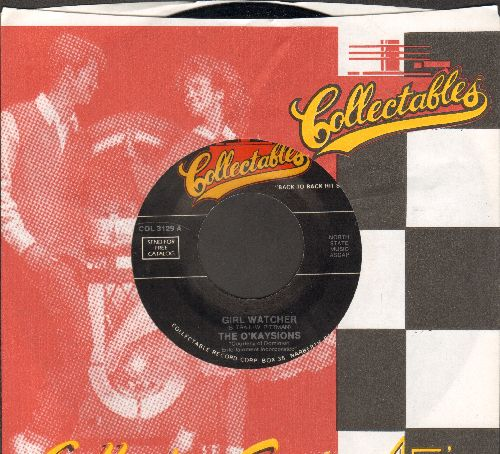 O'Kaysions - Girl Watcher/Get On Up (by The Esquires on flip-side) (re-issue with company sleeve) - NM9/ - 45 rpm Records
