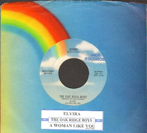 Oak Ridge Boys - Elvira (JUKE BOX FAVORITE!)/A Woman Like You (with MCA company sleeve and juke box label) - NM9/ - 45 rpm Records