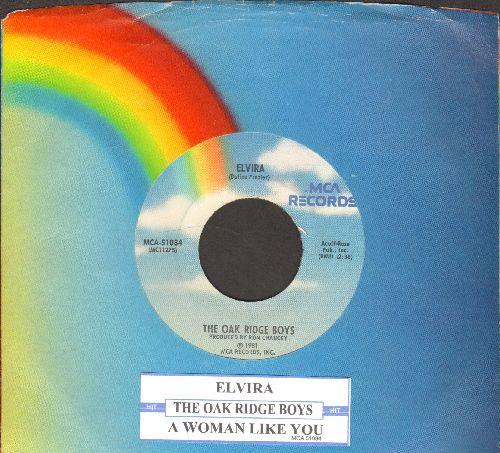 Oak Ridge Boys - Elvira (JUKE BOX FAVORITE!)/A Woman Like You (with MCA company sleeve and juke box label) - NM9/ - 45 rpm Records