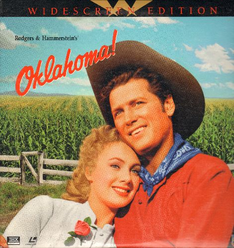 Oklahoma! - Oklahoma! - Widescreen Version of the 1955 Rodgers & Hammerstein Classic starring Shirley Jones Gordon MacRae and Gloria Grahame on 2 LASERDISCS (gate-fold cover) - NM9/NM9 - LaserDiscs