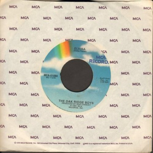 Oak Ridge Boys - Elvira (JUKE BOX FAVORITE!)/A Woman Like You (with juke box label) - EX8/ - 45 rpm Records