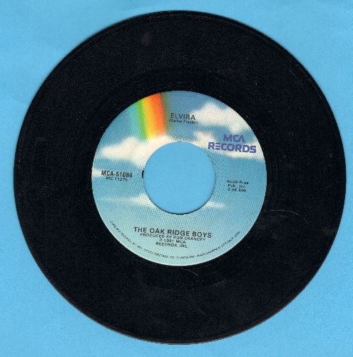 Oak Ridge Boys - Elvira (JUKE BOX FAVORITE!)/A Woman Like You  - NM9/ - 45 rpm Records