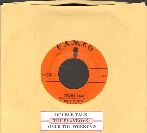 Playboys - Double Talk/Over The Weekend (orange label first pressing)(with juke box label) - EX8/ - 45 rpm Records