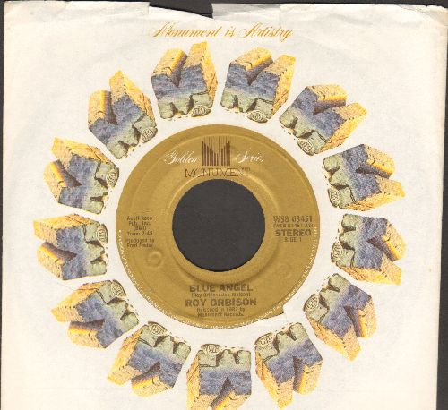 Orbison, Roy - Blue Angel/Paper Boy )early double-hit re-issue with Monument company sleeve) - NM9/ - 45 rpm Records