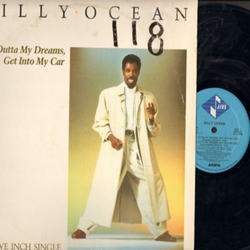 Ocean, Billy - Get Outta My Dreams, Det Into My Car (8:59 Minutes Extended Version)/5:29 minutes Instrumental Version + 3 more tracks, 12 inch vinyl Maxi Single with picture cover. - NM9/VG7 - Maxi Singles