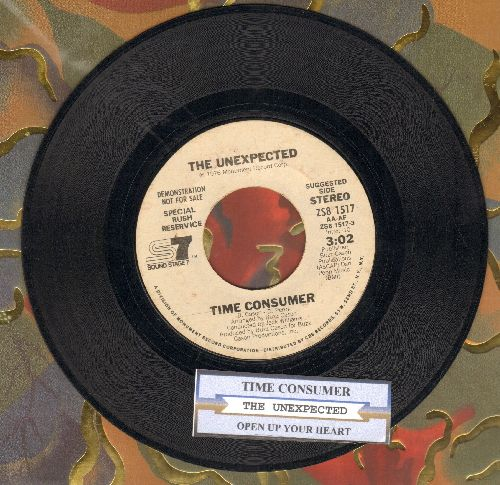 Unexpected - Time Consumer/Open Up Your Heart (DJ advance pressing with juke box label) - EX8/ - 45 rpm Records
