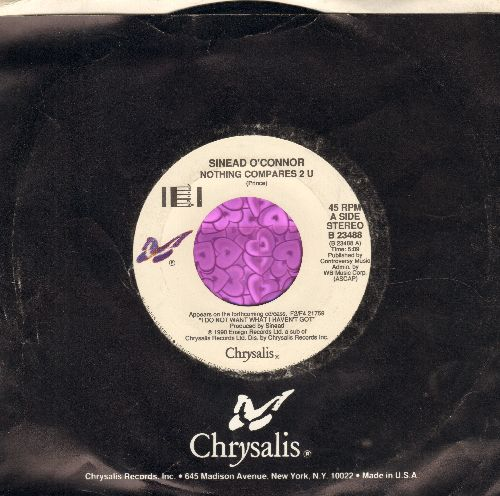 O'Connor, Sinead - Nothing Compares 2 U/Jump In The River (with Chrysalis company sleeve) - EX8/ - 45 rpm Records