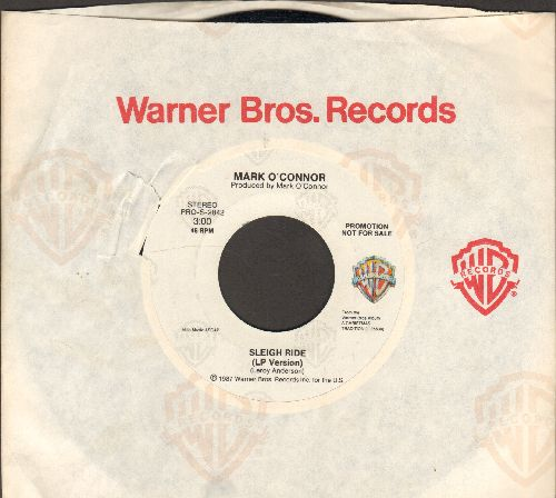 O'Connor, Mark/Randy Travis - Sleigh Ride/White Christmas Makes Me Blue (PROMO Pressing with Warner Brothers company sleeve) - NM9/ - 45 rpm Records