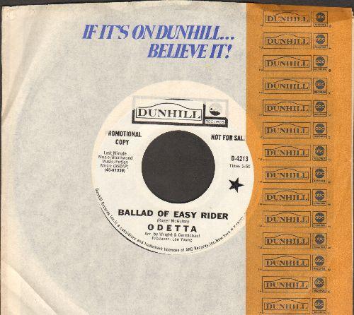 Odetta - Ballad Of Easy Rider/Visa-Versa (DJ advance pressing with Dunhill company sleeve) - NM9/ - 45 rpm Records